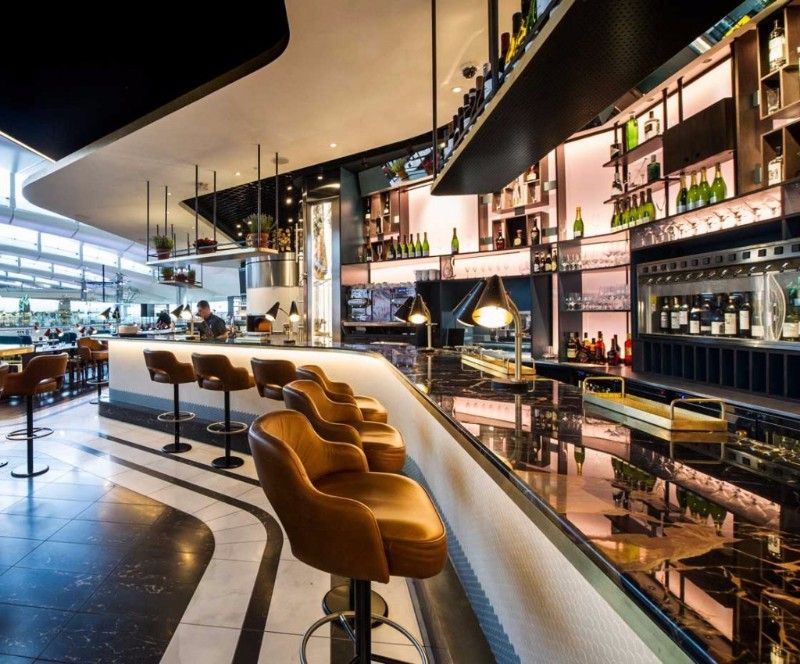 A unique restaurant and bar design at the heathrow airport