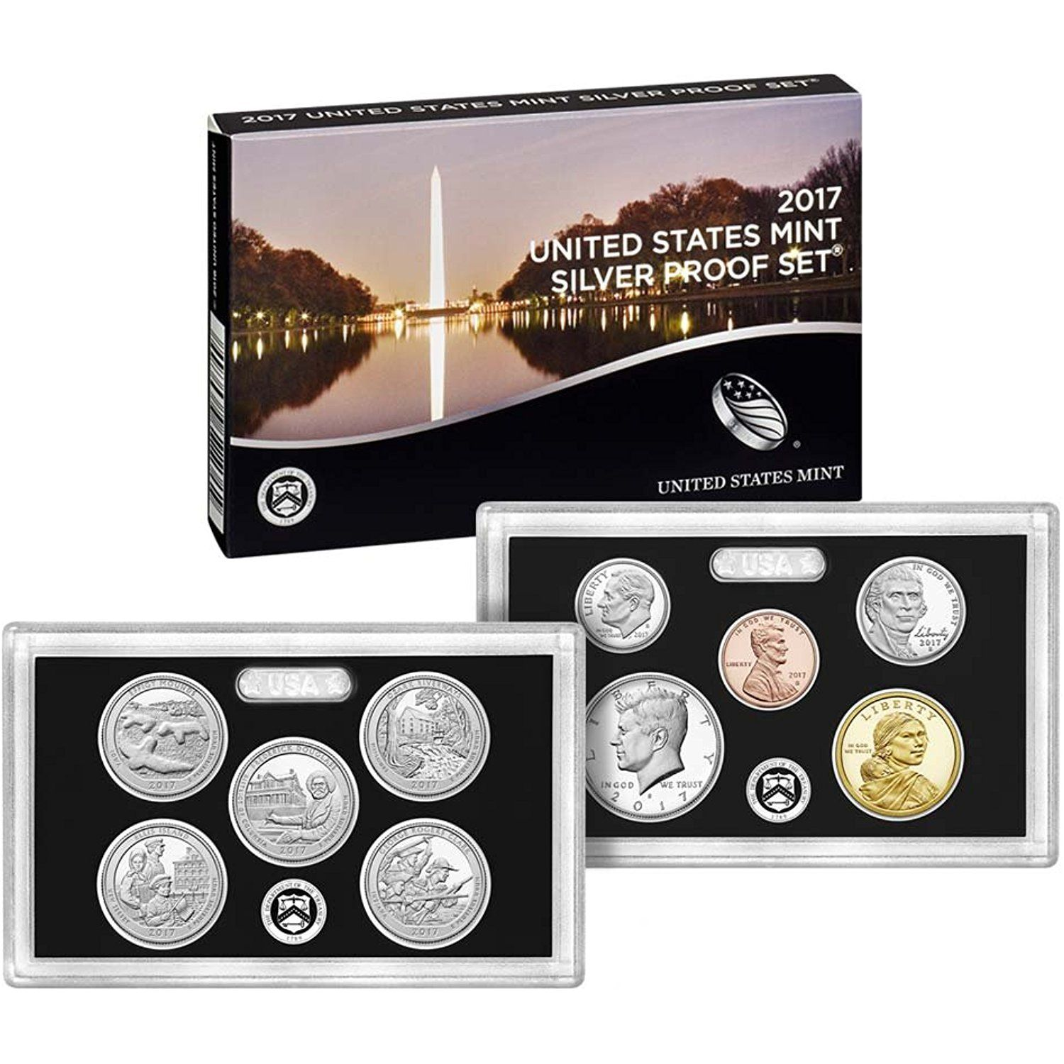 2017 S Silver Proof Set 2017 Silver Proof Set 10 Coins Complete With Box And Coa Proof Check Out The Image By Visitin Coin Set Proof Coins Coin Shop