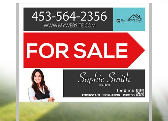 Real Estate Yard Sign Template Real estate Real estate signs and