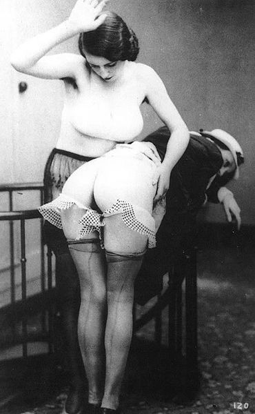 French post cards spank