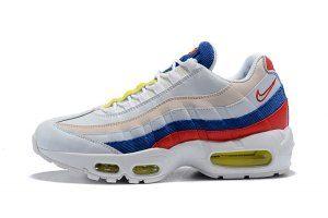 cheap for discount 70d2d 8b518 Mens Womens Nike Air Max 95 SE Cream White Red Blue AQ4138 101 Running Shoes
