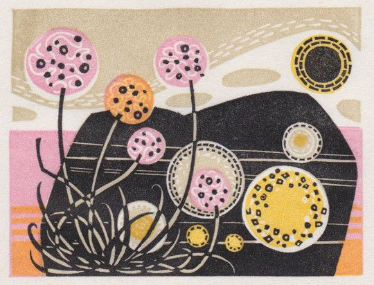 Clashnessie print by Angie Lewin (via Print & Pattern)