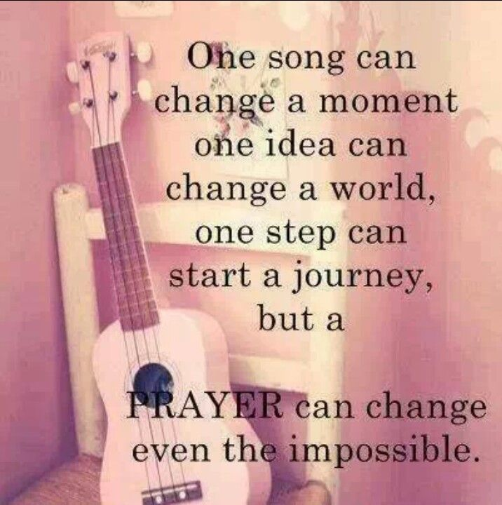 Prayer can change...