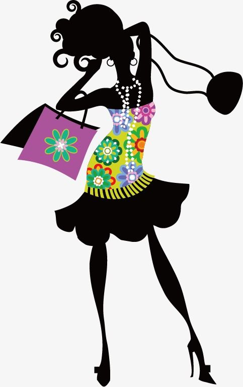 Silhueta de mulher shopping Da Moda, Shopping, A Mulher, Promoção ...