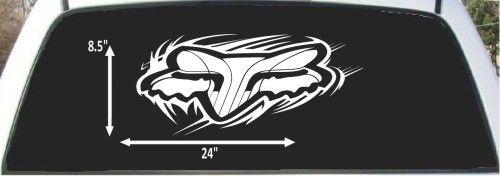 Fox Racing Sticker Fox Riders Co Head X For Cars Trucks - Custom made window decals for trucks