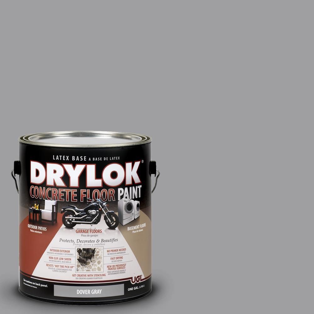 Drylok 1 Gal Dover Gray Latex Concrete Floor Paint In