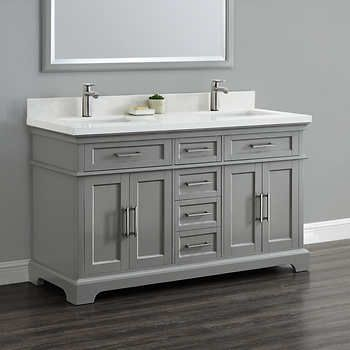 """Cameron 60"""" Double Sink Vanity by Mission Hills 899"""