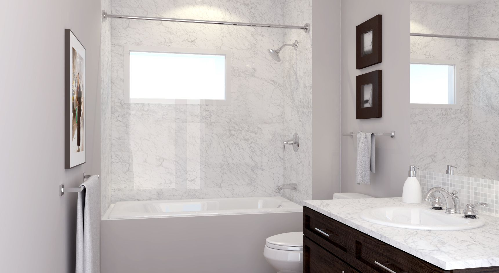 Trascenda Collection Carrara Shower Granite Transformations Commercial Remodeling Granite Marble Countertops
