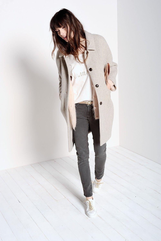 15 15 Lisetta Femme Polyester 30 30 55 Wool Polyamide Coat Grey xwZwpAqH4