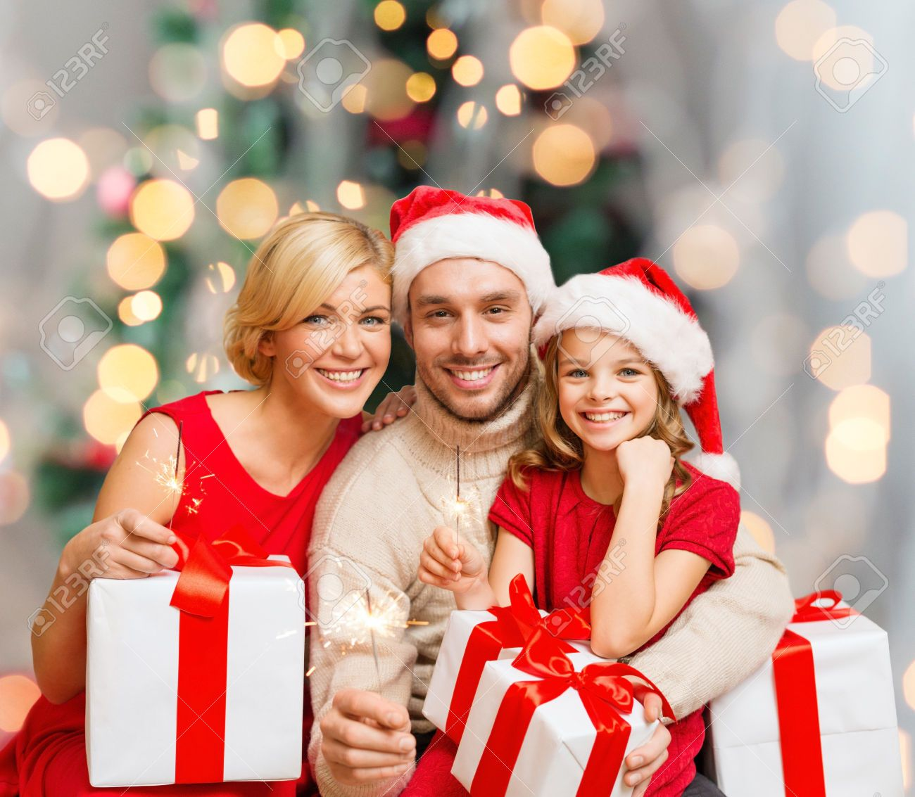Christmas, Holidays, Family And People Concept - Happy Mother ...