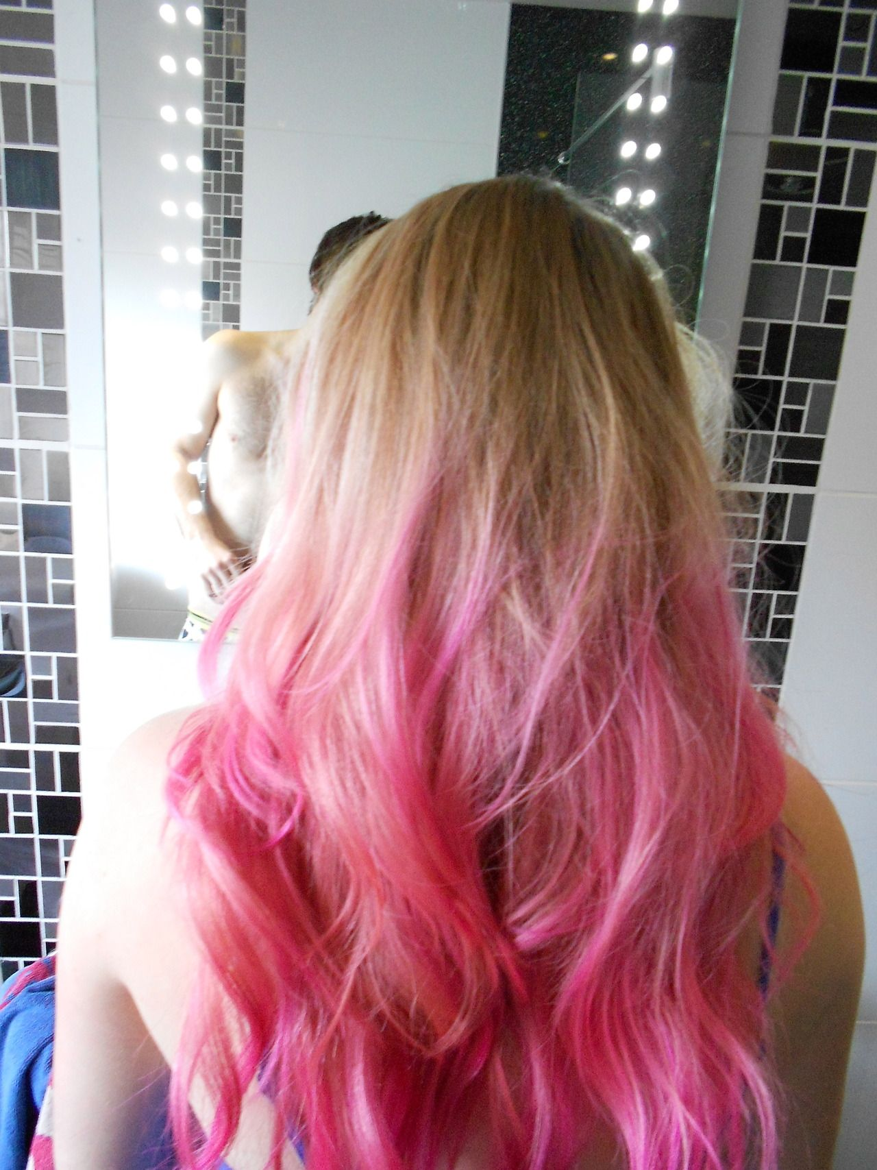 Pink Dip Dyed Ombre Hair Dipped Hair Ombre Hair Pink Dip Dye