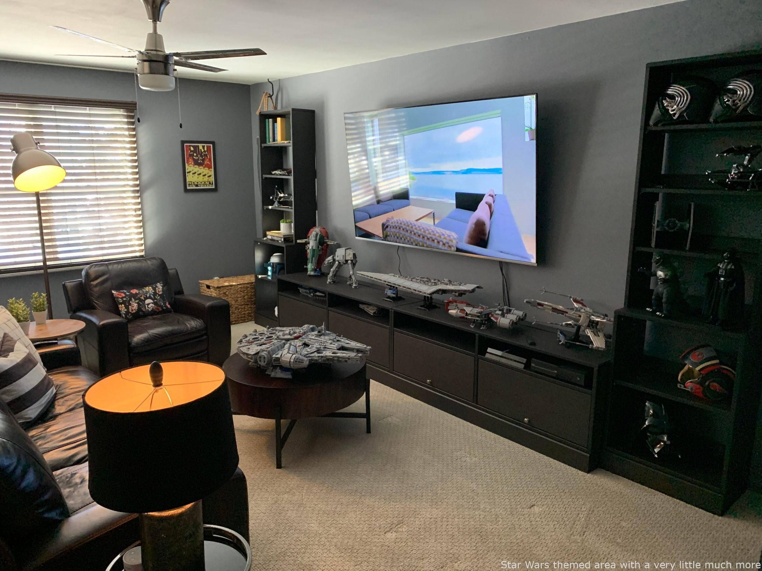 Star Wars themed home with a small a lot more operate to complete   Star Wars themed home with a small a lot more operate to complete  incredible man cave  for a man cav...
