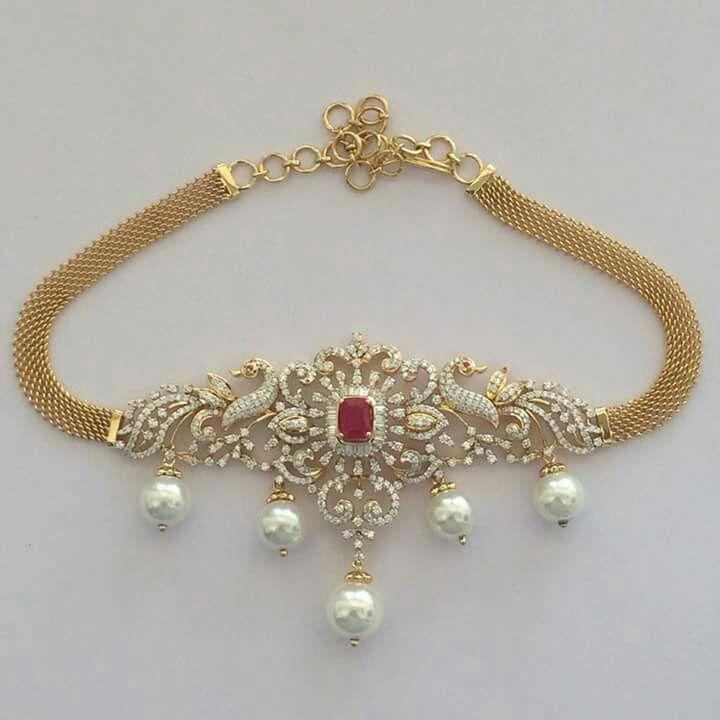 Gold And Diamond Jewellery Designs Indian Diamond Choker: Pin By Srujana Reddy On Jewelry