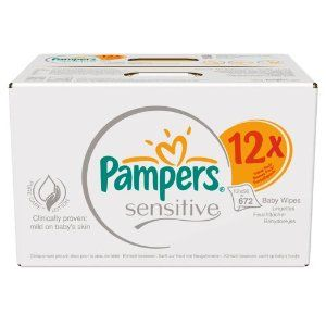 672 Wipes Pampers Sensitive Baby Wipes