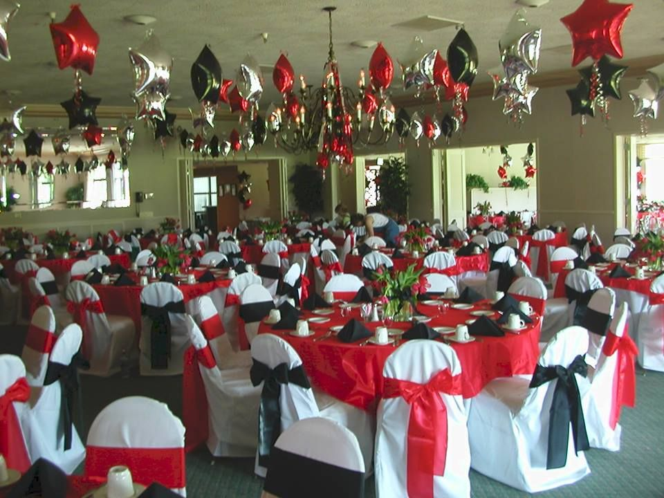 Red White And Black Decor Pic Graduation Party Decor