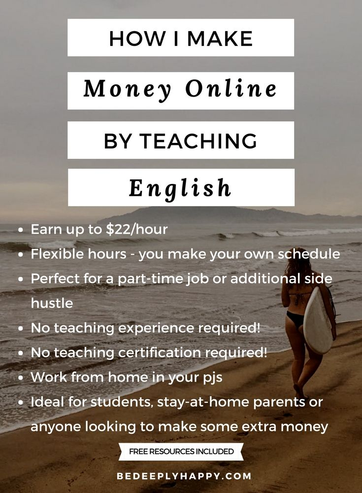 Learn How To Make Money Online By Teaching English Bedeeplyhappy