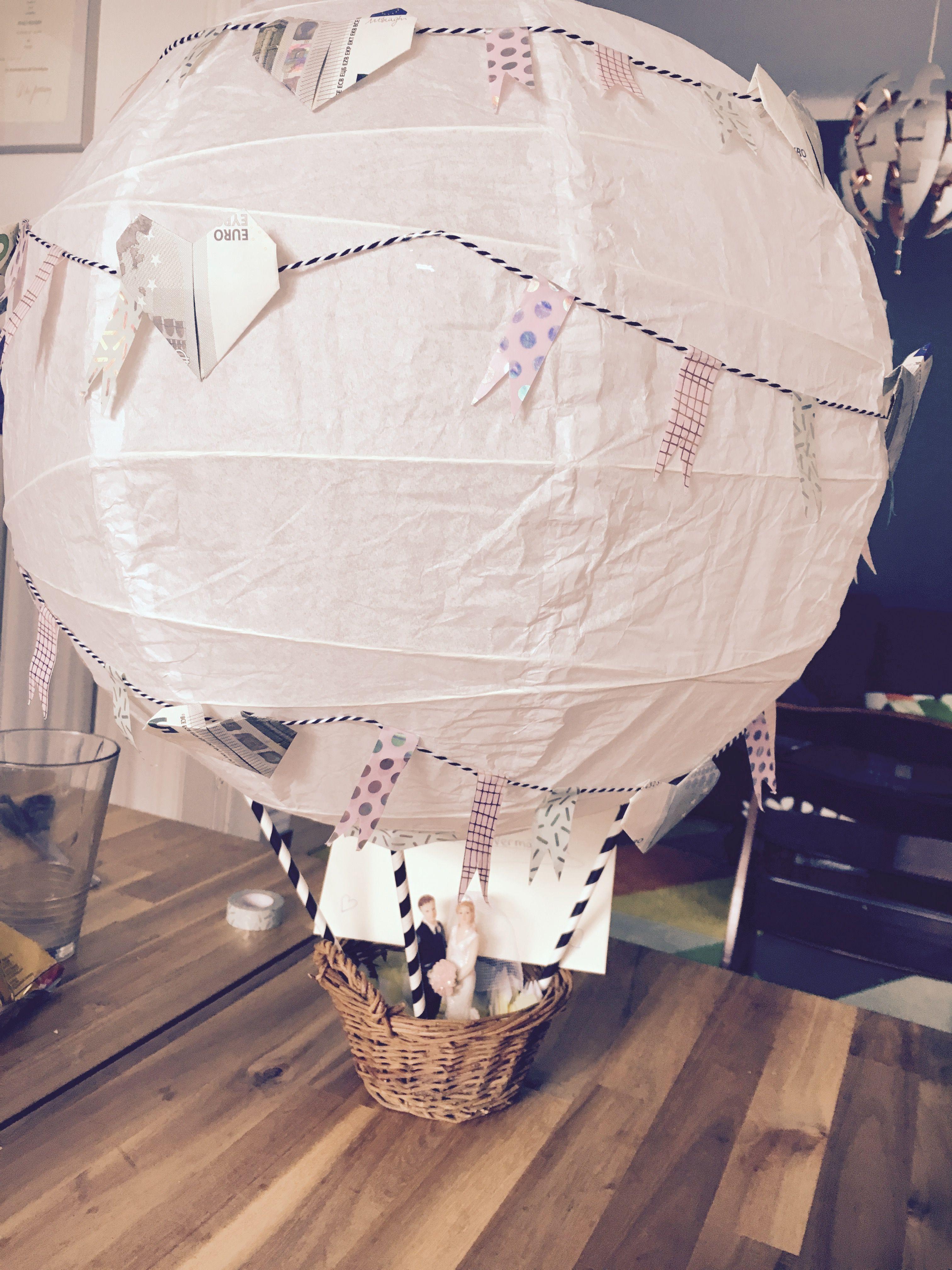 Hochzeitsgeschenk Heissluftballon Hochzeitsgeschenk