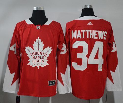 the latest 6952d 9e16b Adidas Maple Leafs #34 Auston Matthews Red Team Canada ...