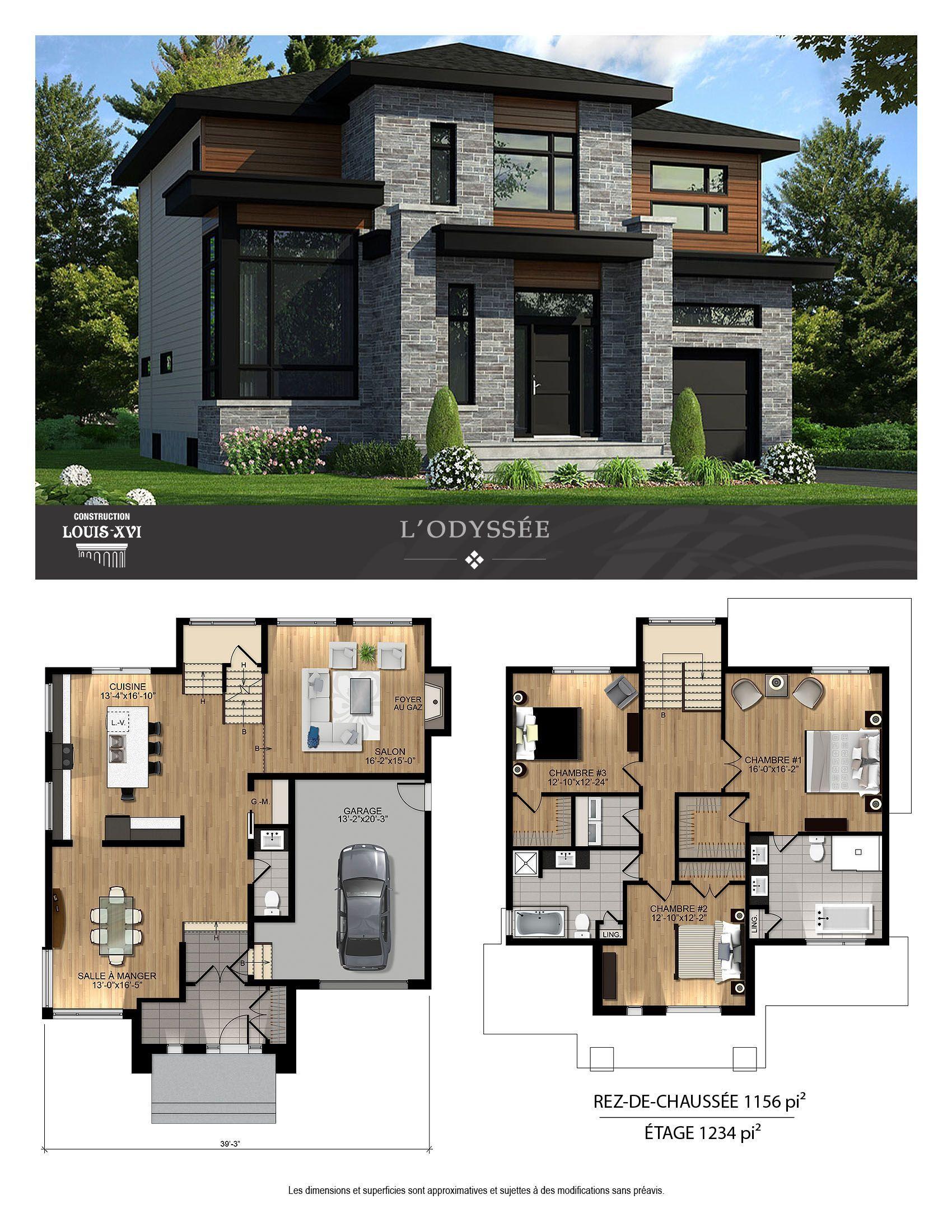 Modele De Maison City 163 5 Chambres Maisons