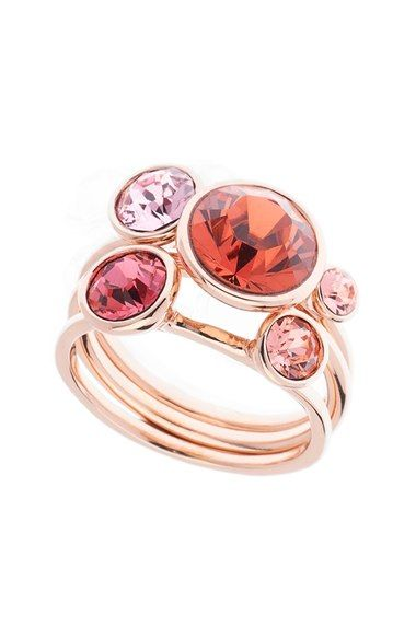 f13bc44e691886 Main Image - Ted Baker London  Jackie  Crystal Stacking Rings (Set of 3)