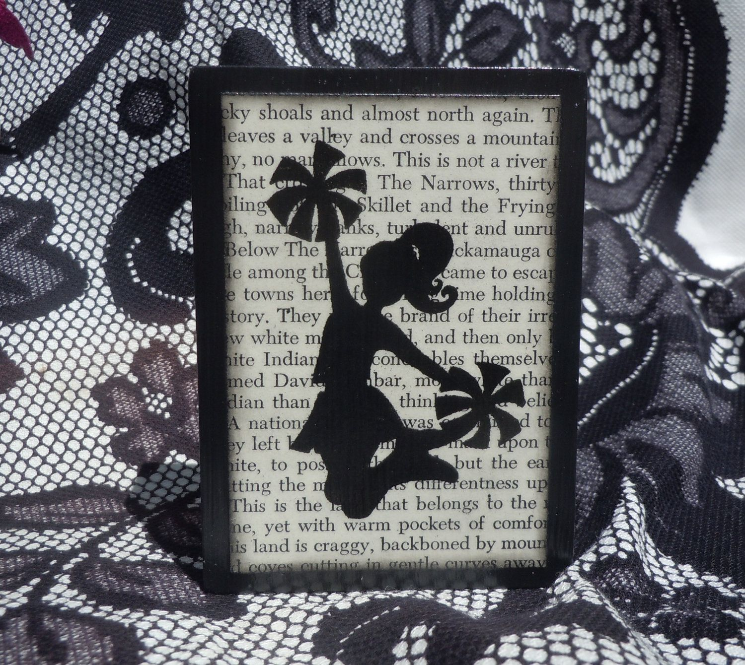 Cheerleading Picture Wooden Block Girls Room Decor