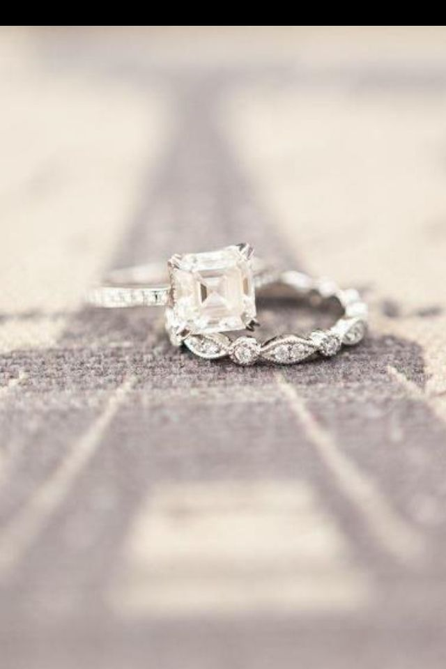 Asher Cut Vintage Engagement Ring Conflict Free Diamond Wedding Band Gorgeous