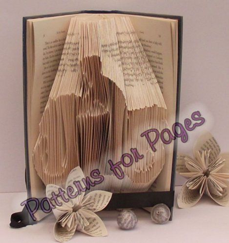 Book folding pattern for a by PatternsForPages on Etsy, £5.00