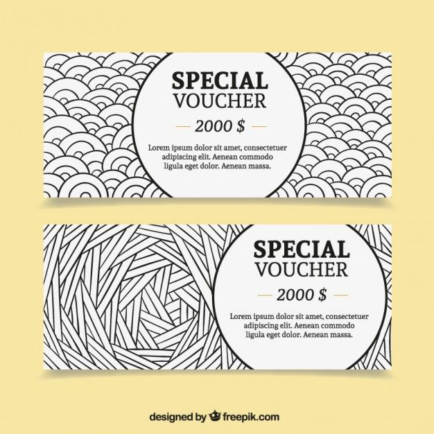 Pack de cupones especiales de dólar Vector Gratis Voucher