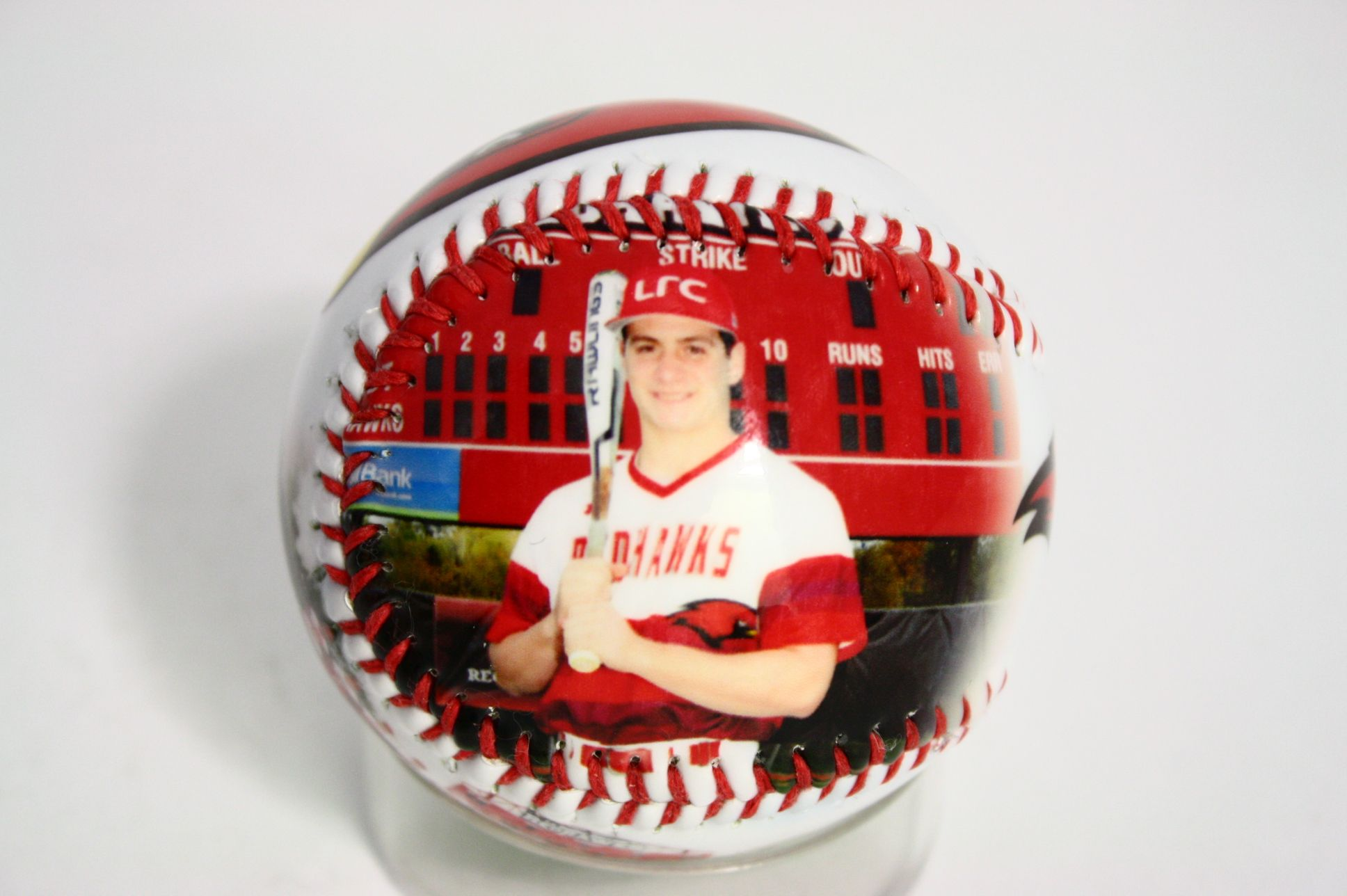 Unique gift for your favorite baseball player this year for his birthday, graduation, senior night, anniversary or any other occasions. Design your own customized baseball today