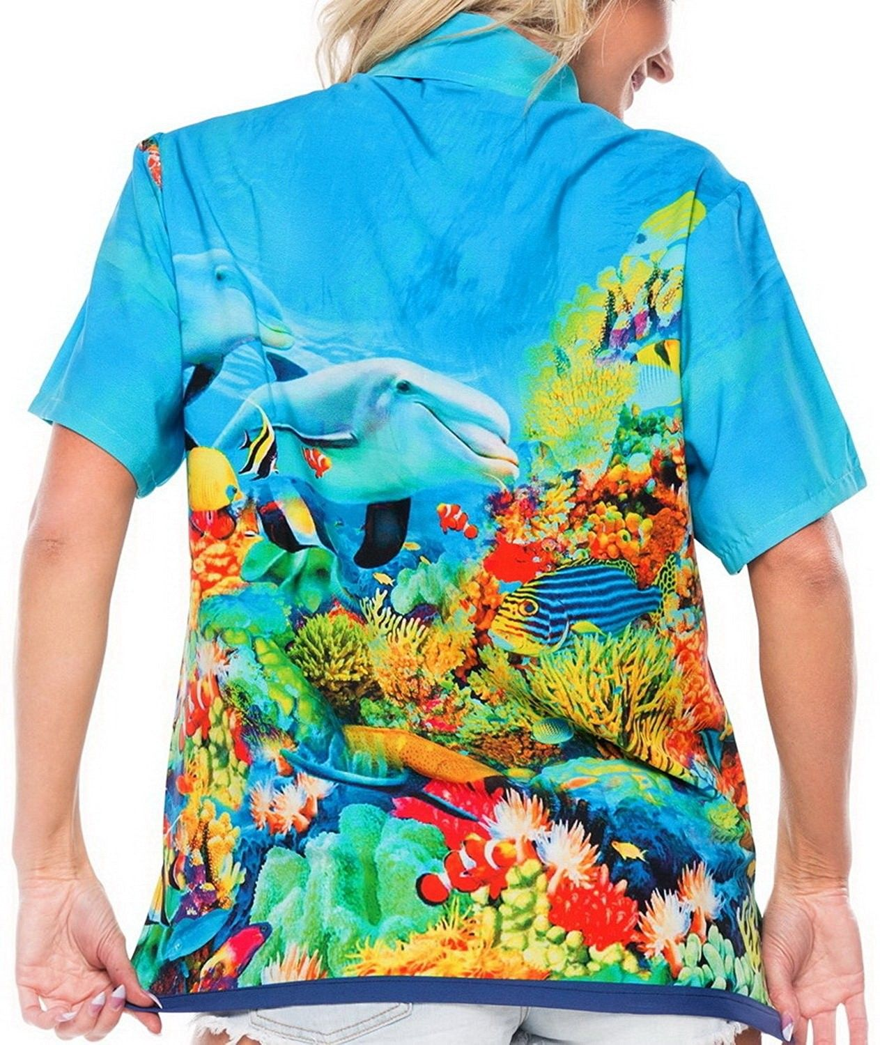 607892710c Ladies Hawaiian Shirt Tank Blouses Beach Top Casual Aloha Boho ...
