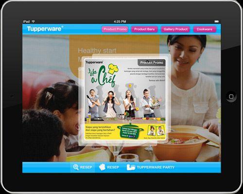 Mockup design for Tupperware tab apps. It was worked at PT. Virtual Media Nusantara (Virtuco).