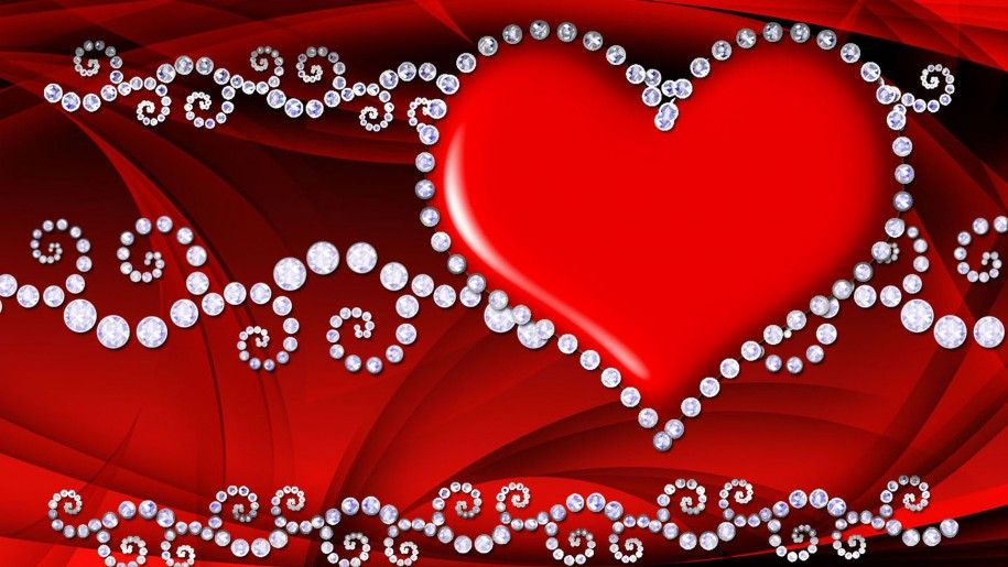 Red Love Heart Hd Wallpaper 086