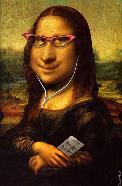 Mona Lisa Caricature Mona Lisa S Smile Courtesy Of Psych Flickr Mona Lisa Mona Lisa Parody Mona