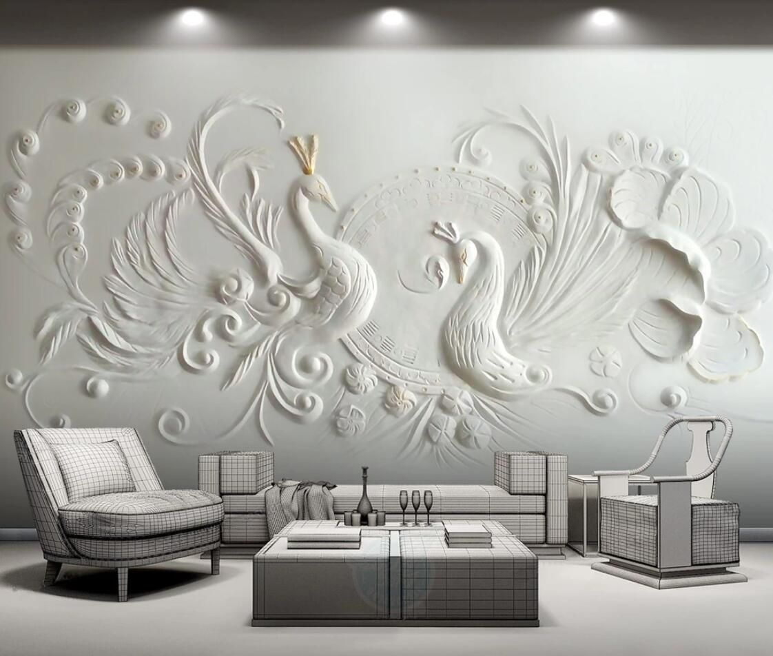 Peacock Wallpaper Wall Mural Large Photo Contact Paper Murals Wall Papers Home Decor Silk Cloth Wallpap Photo Mural Wall Wall Stickers Wallpaper 3d Wall Murals