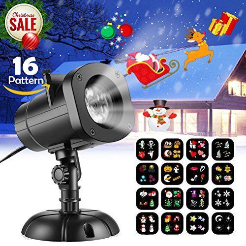 Christmas Lights Projector KUDES Outdoor Moving Rotating LED