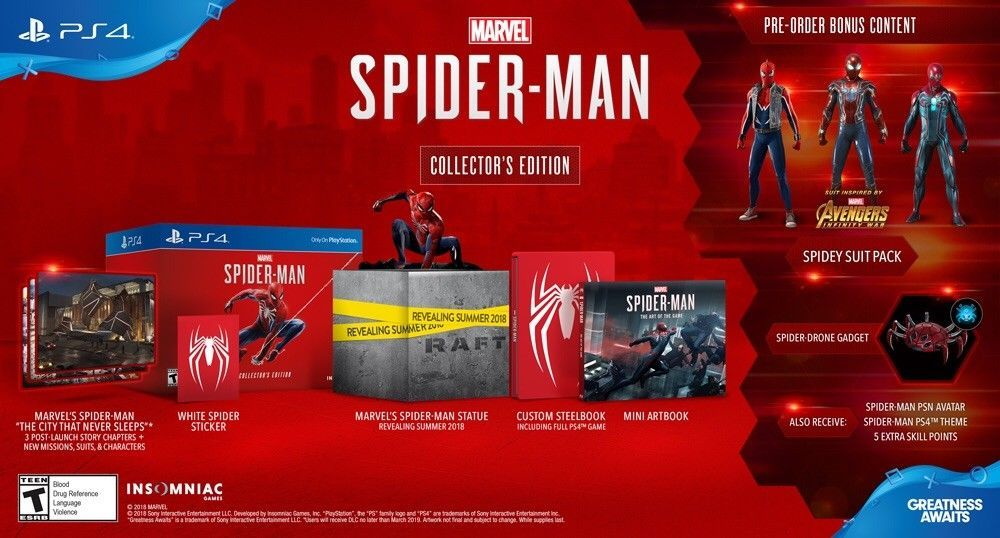 Marvel Spider Man Ps4 Collector S Edition Game For Playstation 4