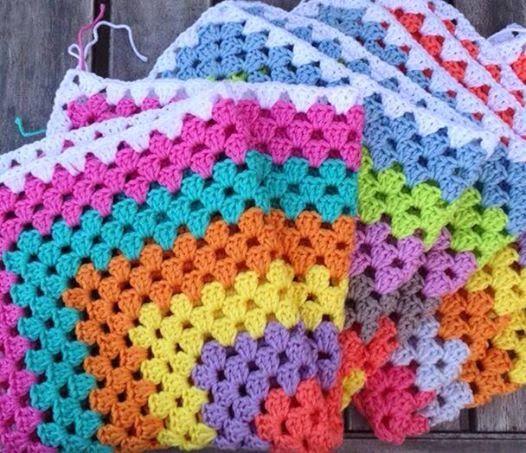 Working on my granny blanket | Leuk | Pinterest | Manta, Cobija y Tejido