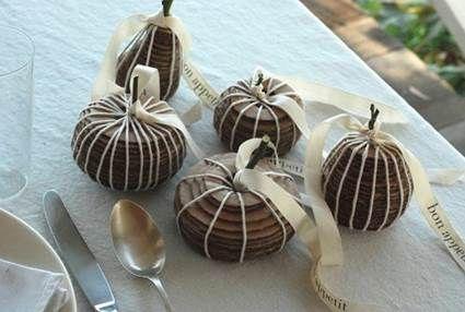 Centros navideños frutas con cartón y lana Centros de mesa
