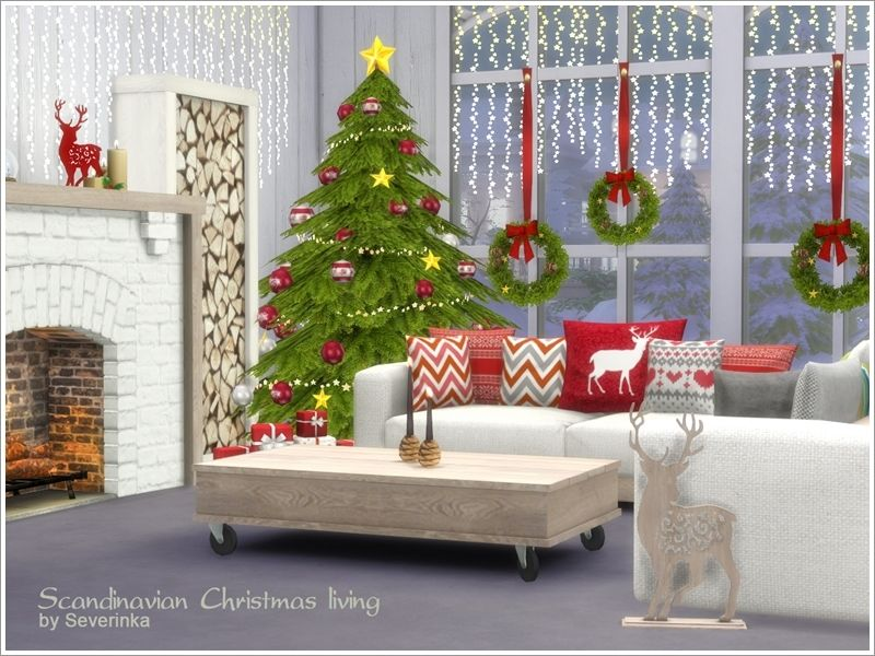 A Set Of Furniture And Decor For The Living Room In A Scandinavian Style.  Found In TSR Category U0027Sims 4 Living Room Setsu0027