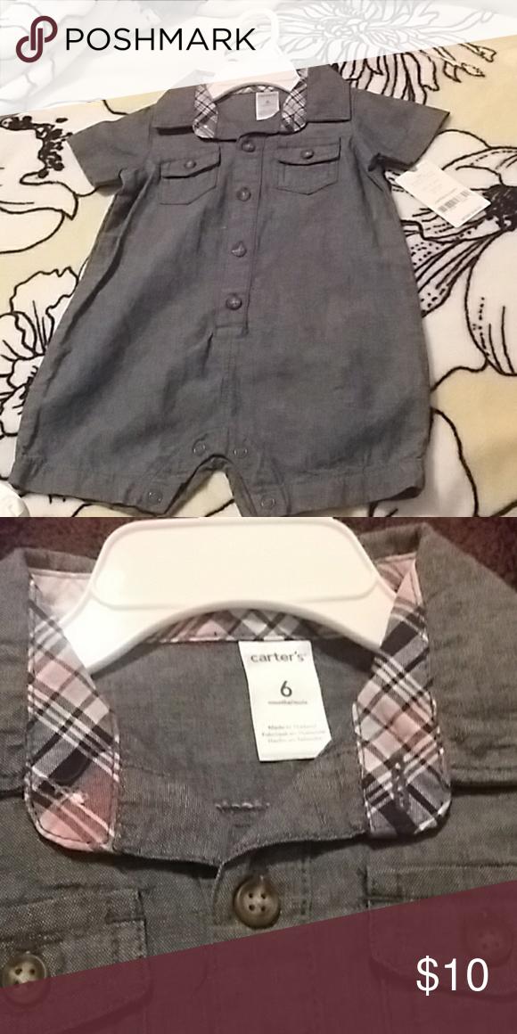 83602a285254 Carter s Baby Boy Denim Jumpsuit Carter s bluish grey denim jumpsuit.  Button up jumpsuit with easy