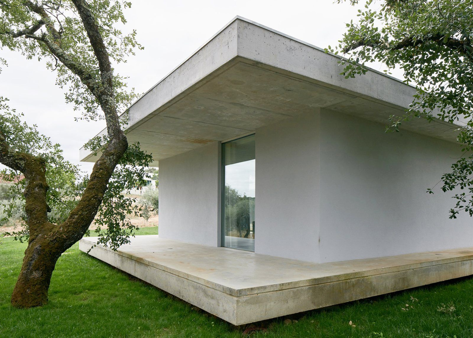House sandwiched between two concrete slabs. Fanu House by Bruno Dias Arquitectura. © Hugo Santos Silva.