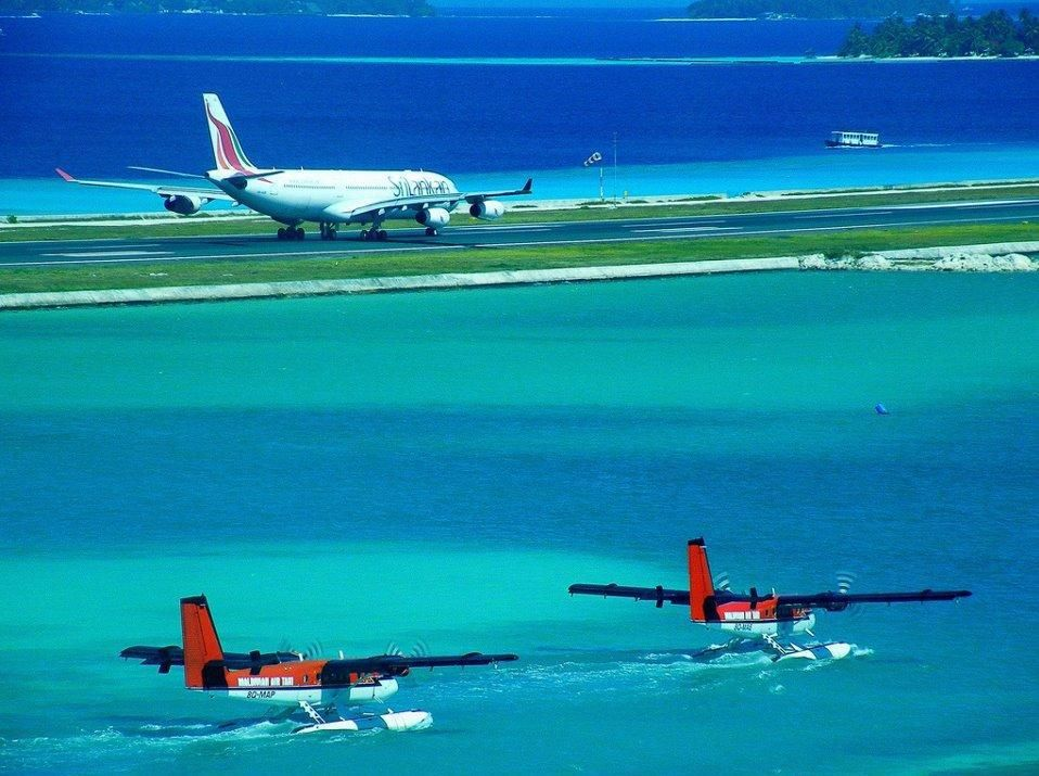 Maldivian Air Taxi Twin Otters with floats Maldivian air