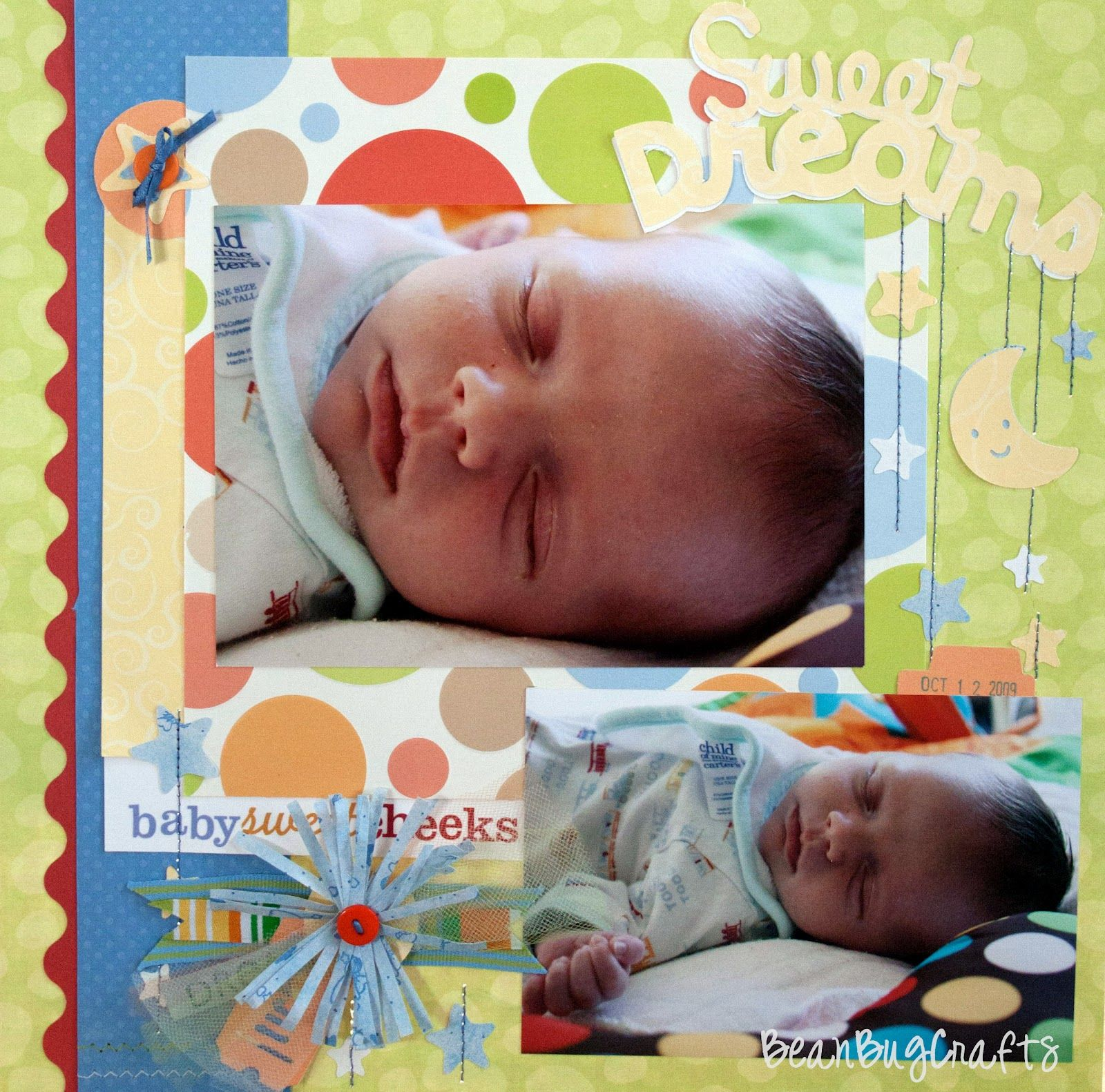 BeanBugCrafts: Scrapbook Challenge Throwdown: Day Five