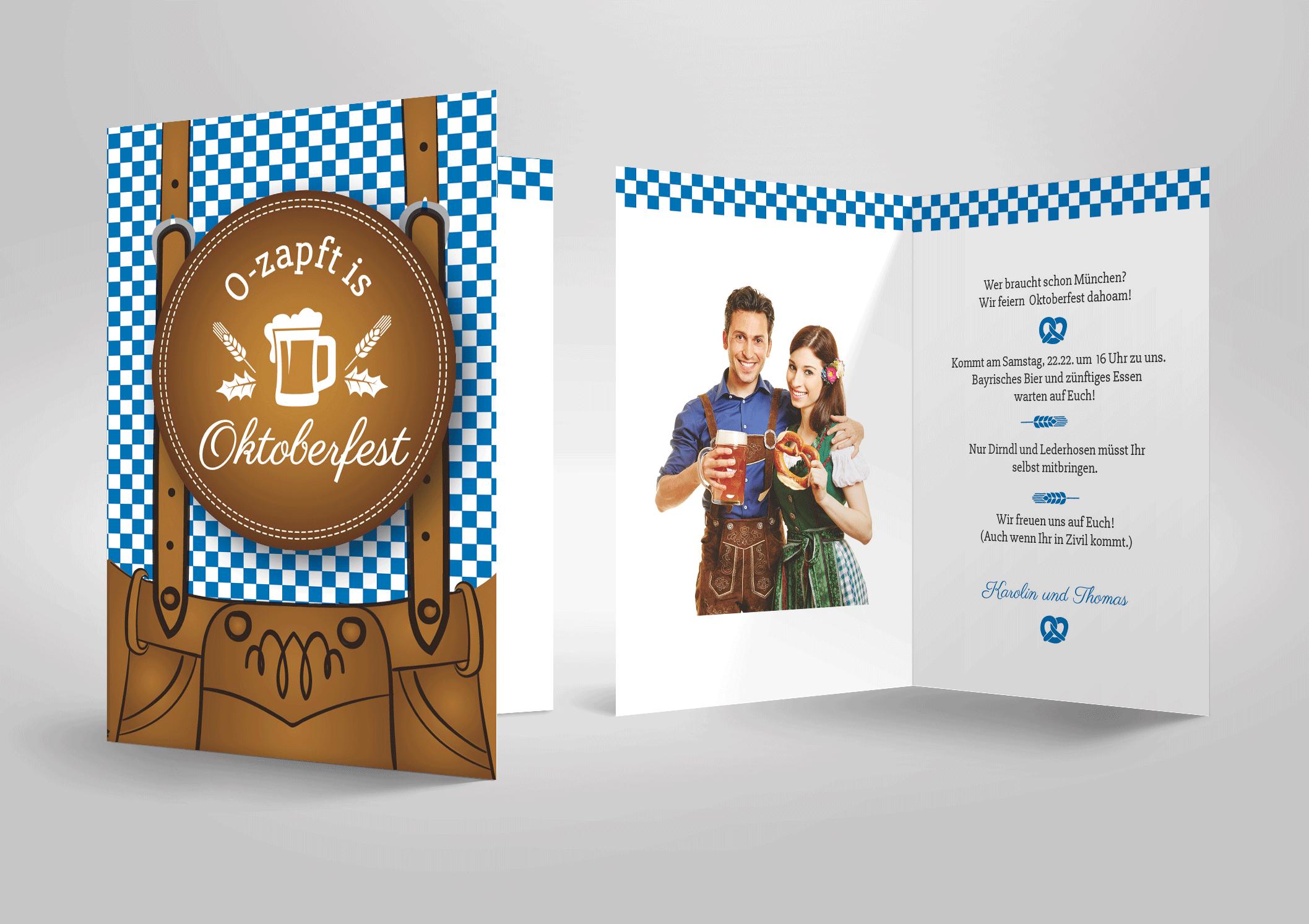bayerisch zünftige einladung oktoberfest party, lederhose