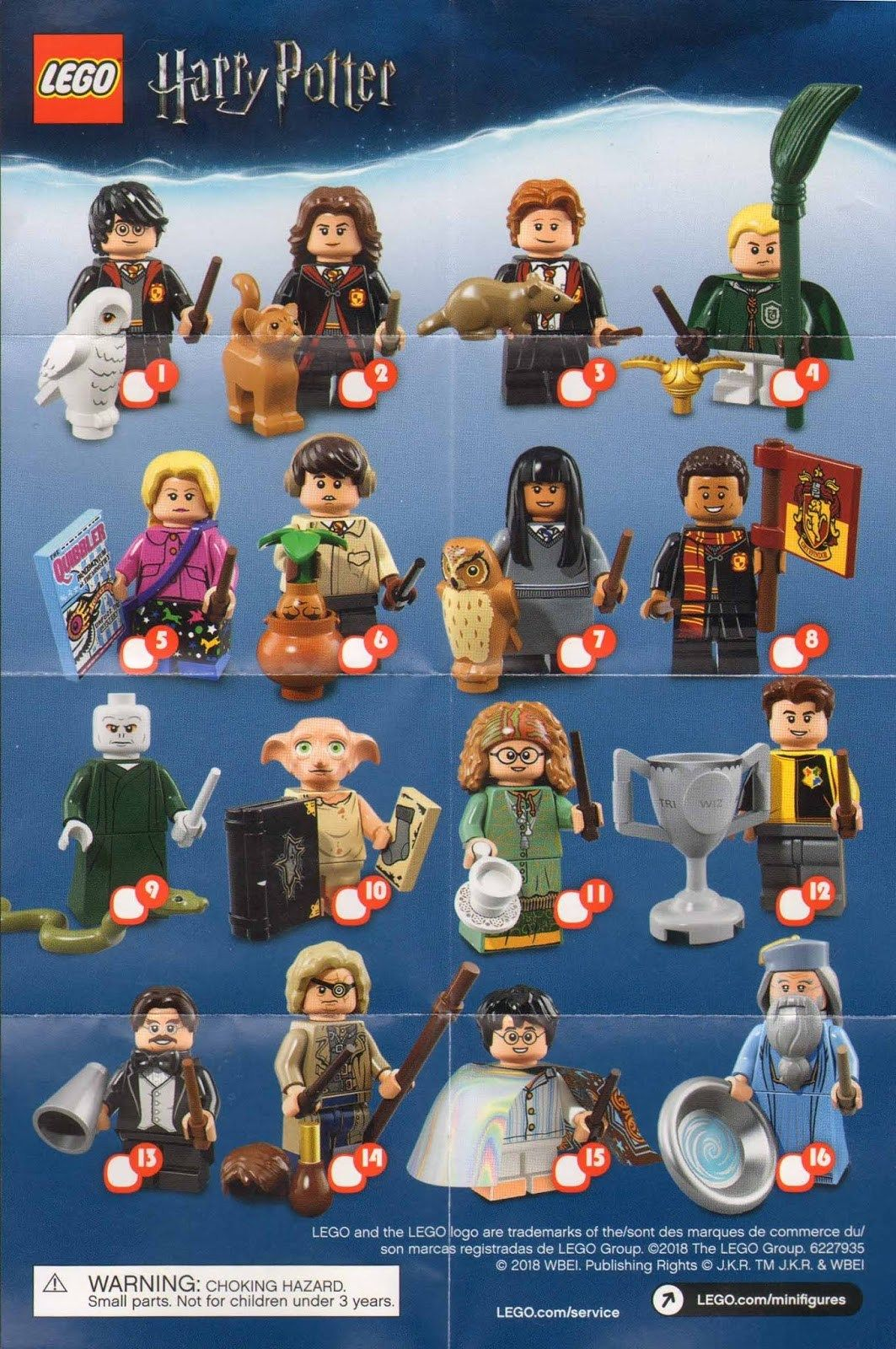 71022 YOU CHOOSE LEGO Harry Potter Fantastic Beasts Minifigure Series 1