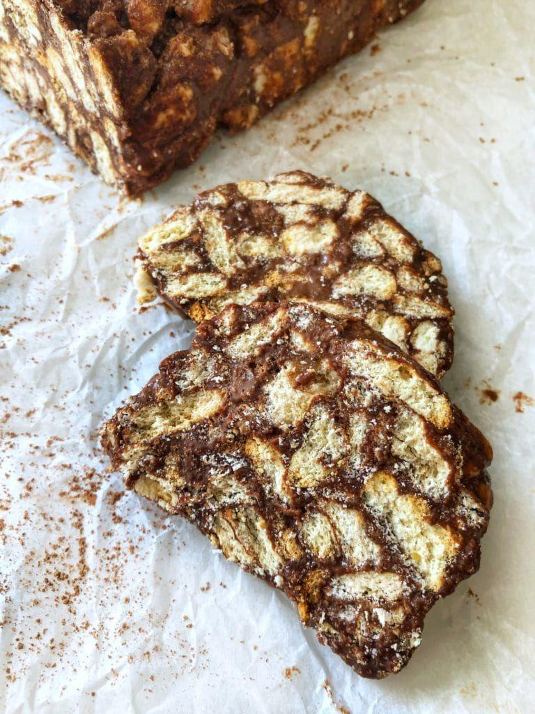 Chocolate Lazy Cake Sookseeyeh Fufu S Kitchen In 2020 Lazy Cake Cake Recipe No Milk Chocolate Biscuit Cake