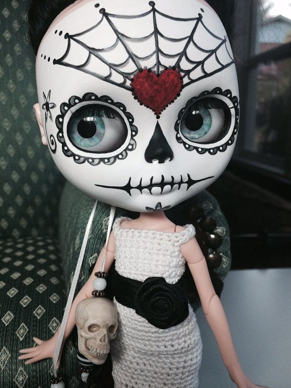 RESERVADO para Duree Dia de los Muertos OOAK Custom por EmmyBlythe