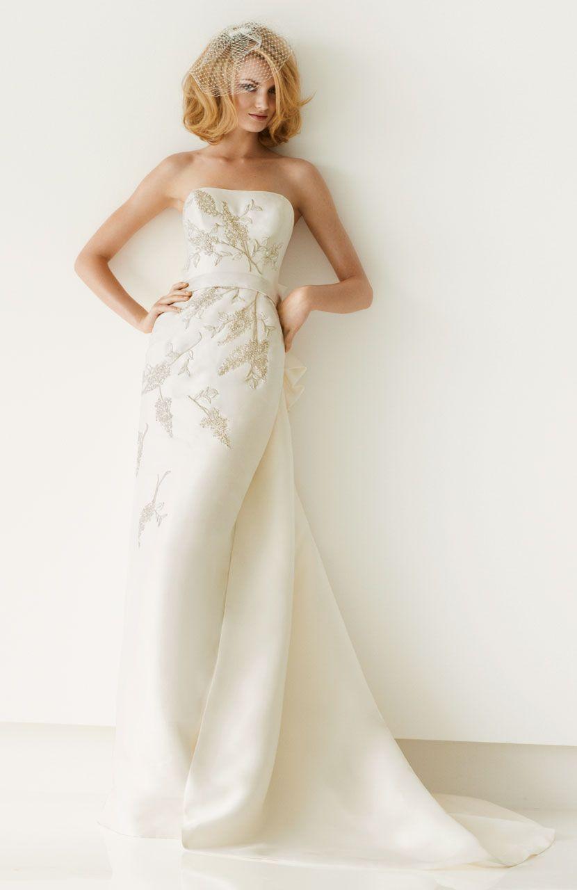 Metallic wedding dress  Pin by Dawn Cicero on Weddings  Pinterest  Wedding