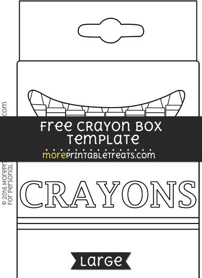 Free Crayon Box Template Large Box Template Crayon Box