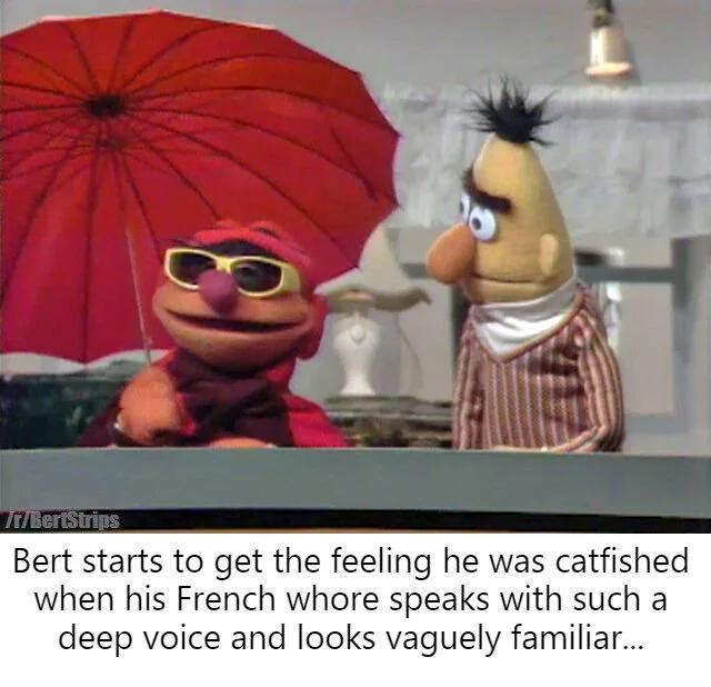 Why Grandma What Big Balls You Have Bertstrips Sesame Street Memes Sesame Street Muppets